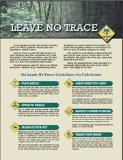 Unusual image inside leave no trace printable