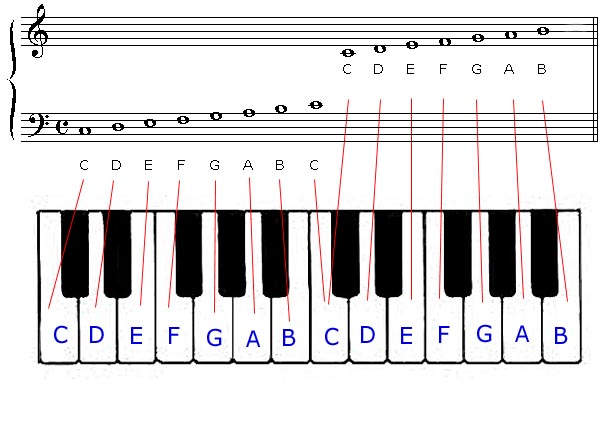 Piano Key Notes Piano Notes New Calendar Template Site  : key staff from saneyes.com size 612 x 432 jpeg 44kB