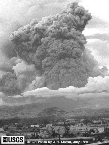 a history of the eruption of mt pinatubo on june 15th 1991