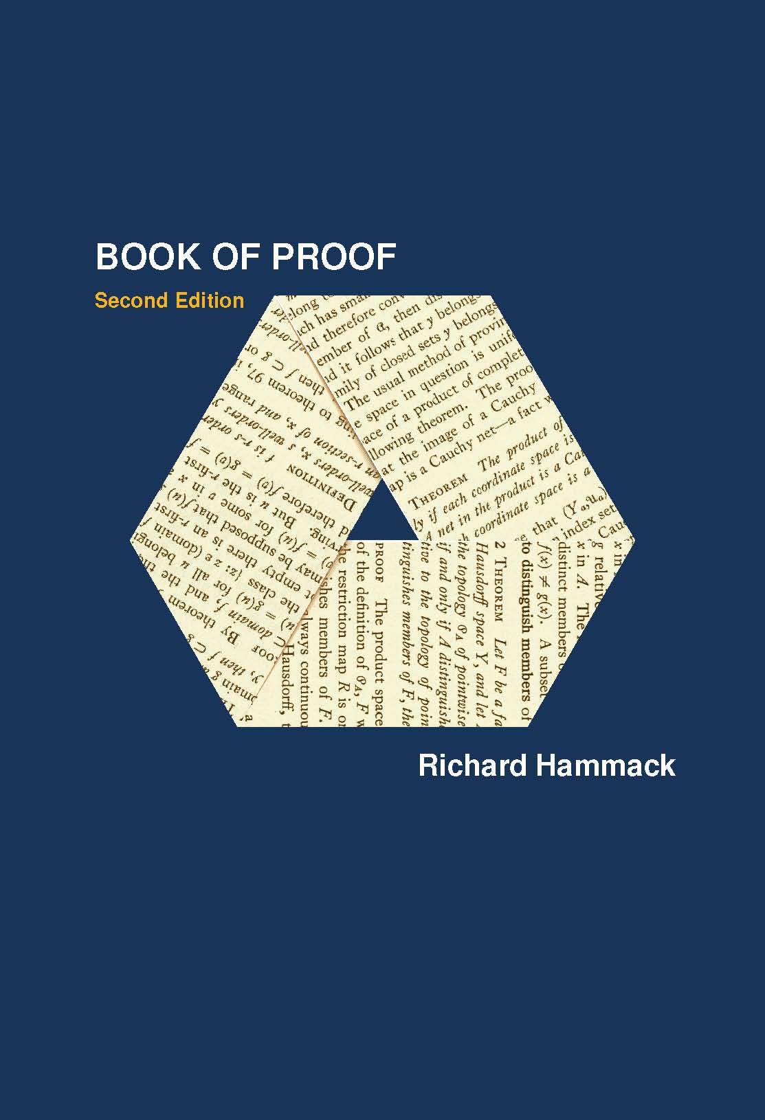 book of proof So i looked for a self-study book, and book of proof turned out to be the book it's tailor-made for self-study, and as a bonus, it's very affordable dr hammack literally starts at the beginning, with the basics of notation, sets, logic, etc.