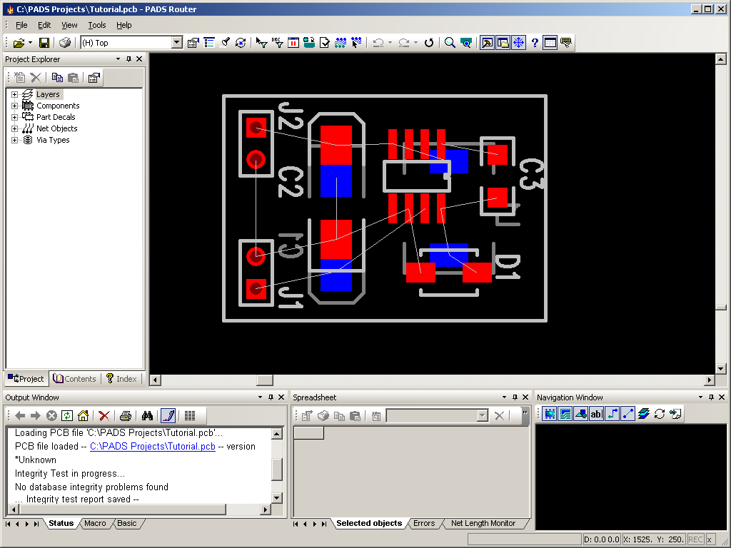 Creating A Simple 33v Regulator Circuit Using Pads Extremecircuitsnet5v Power Supply Since We Already Have Pcb File Select Open Then Browse To Hpads Tutorial And Tutorialpcb The Router Program Should As Shown Below